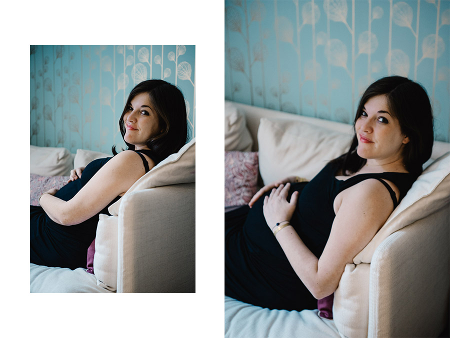 Pregnancy photo session at home - Portrait photographer in Berlin, Geneva, Annecy