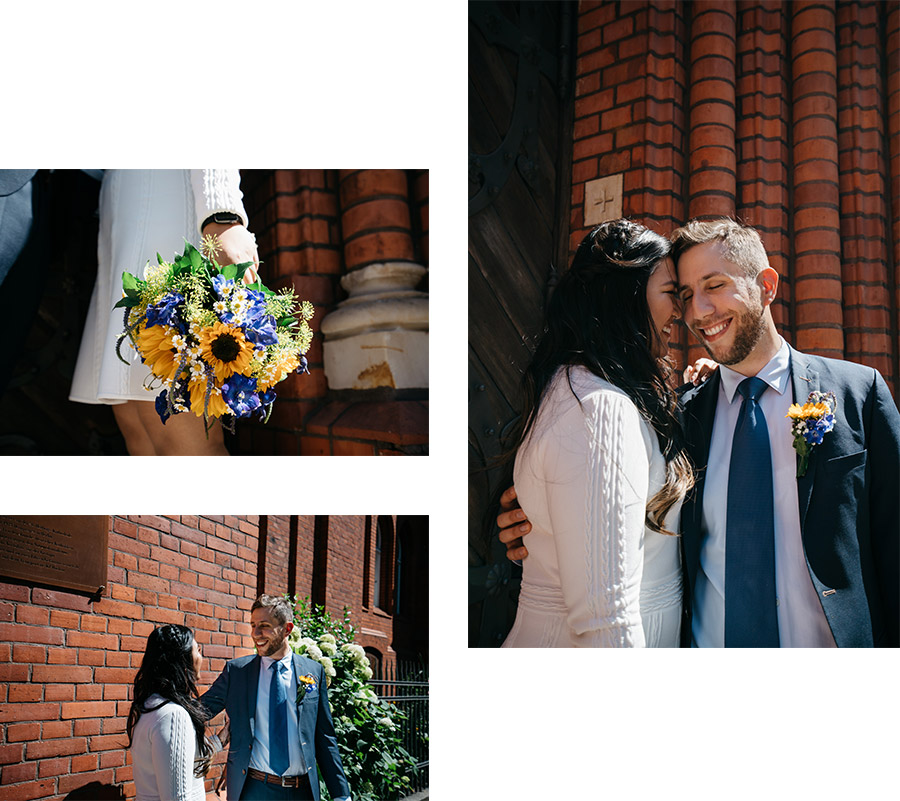 Laughing kissing before the ceremony – Simple wedding in Berlin Standesamt Charlottenburg Wilmersdorf – Hochzeit Fotograf