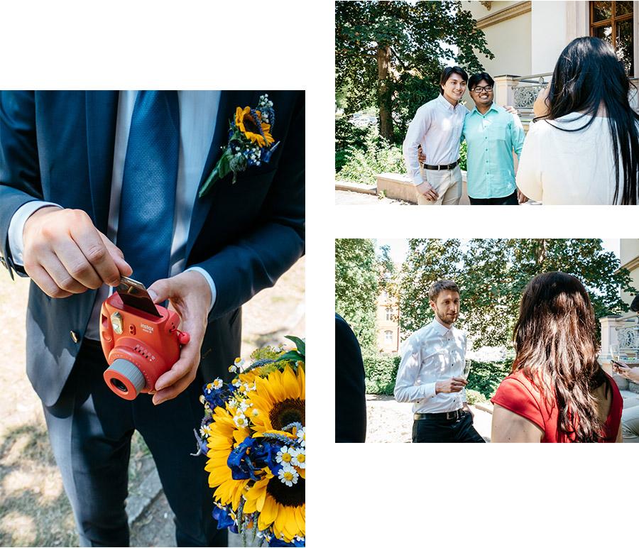 Cocktail Instax fujifilm for guests – Simple wedding in Berlin Standesamt Charlottenburg Wilmersdorf – Hochzeit Fotograf