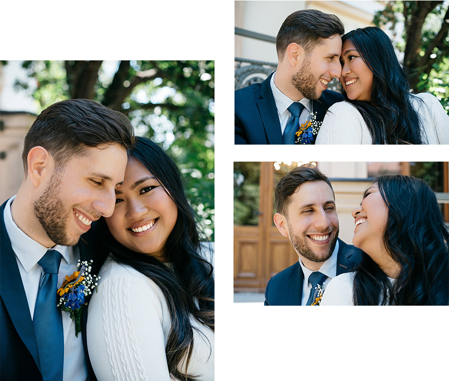 Happy couple smiling – Simple wedding in Berlin Standesamt Charlottenburg Wilmersdorf – Hochzeit Fotograf